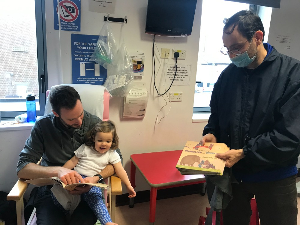 Edwin Lampert, father and child on Children's Inpatients